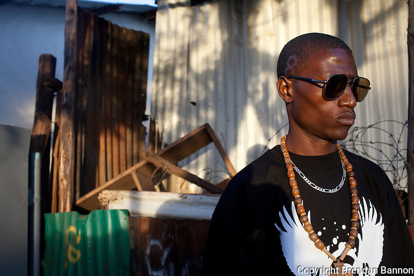 23-year-old hip-hop artist Octopizzo in Kibera.