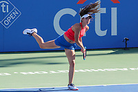 Washington, DC - August 5, 2017:  Oceane Dodin (FRA) in action during the Women semifinal match at Rock Creek Park Tennis Center in Washington, DC. (Photo by Elliott Brown/Media Images International)