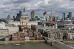 The Millenium bridge leading to St Pauls Cathedral in London England
