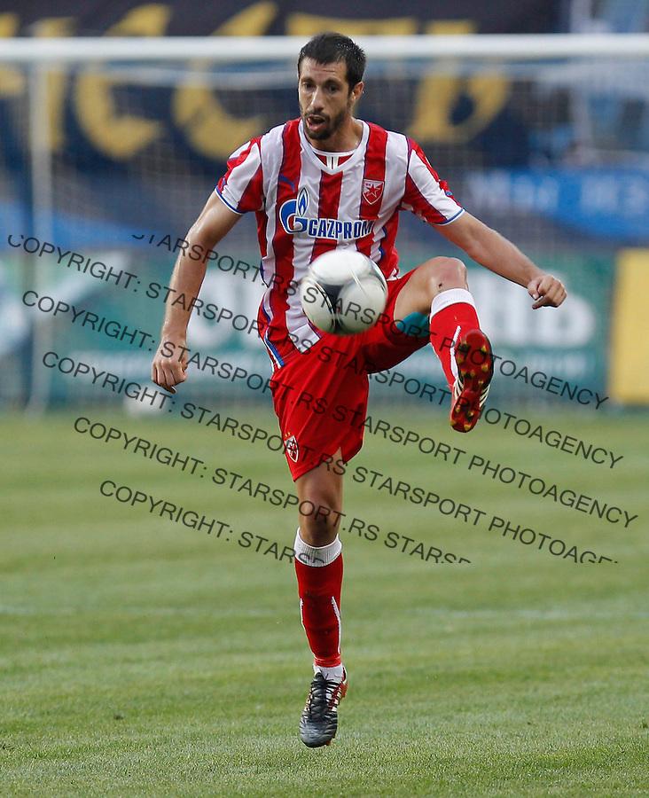 Fudbal UEFA Europa League season 2013-2014<br /> Cernomorec Vs. Crvena Zvezda<br /> Nikola Mijailovic<br /> Odessa, 02.08.2013.<br /> foto: Srdjan Stevanovic/Starsportphoto &copy;