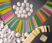 MOLECULAR SOLIDS: COMMON HOUSEHOLD PRODUCTS<br /> Held Together By Intermolecular Forces<br /> Mothballs, candles, polystyrene packing material &amp; butter