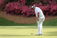 Kiradech Aphibarnrat (THA) on the 13th green during the 1st round at the The Masters , Augusta National, Augusta, Georgia, USA. 11/04/2019.<br /> Picture Fran Caffrey / Golffile.ie<br /> <br /> All photo usage must carry mandatory copyright credit (&copy; Golffile | Fran Caffrey)