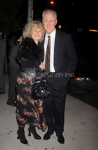 John Lithgow and Mary Yeagar arriving to the afterparty for the opening night performance of All My Sons at Espace in New York City. October 16, 2008. Credit: Dennis Van Tine/MediaPunch