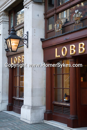 John Lobb boot and shoe shop. St James Street London W1.