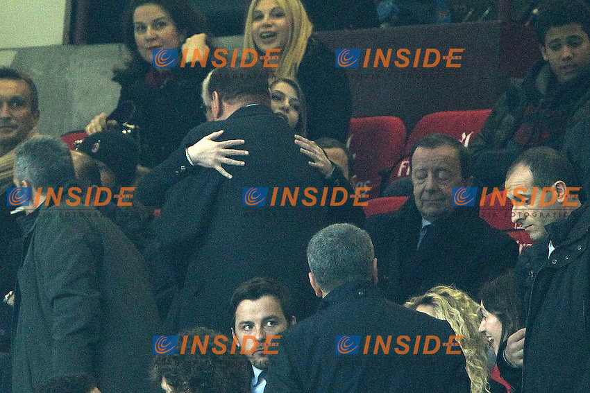 "Barbara e Silvio Berlusconi.Milano 25/02/2012 Stadio ""S.Siro"".Football / Calcio Serie A 2011/2012.Milan vs Juventus.Foto Insidefoto Paolo Nucci"
