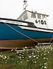 A boat in dry dock in Meteghan, Nova Scotia. Photo by Kevin J. Miyazaki/Redux