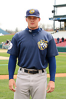 April 11 2010: Matt Mitchell of the Burlington Bees. The Bees are the Low A affiliate of the Kansas City Royals. Photo by: Chris Proctor/Four Seam Images