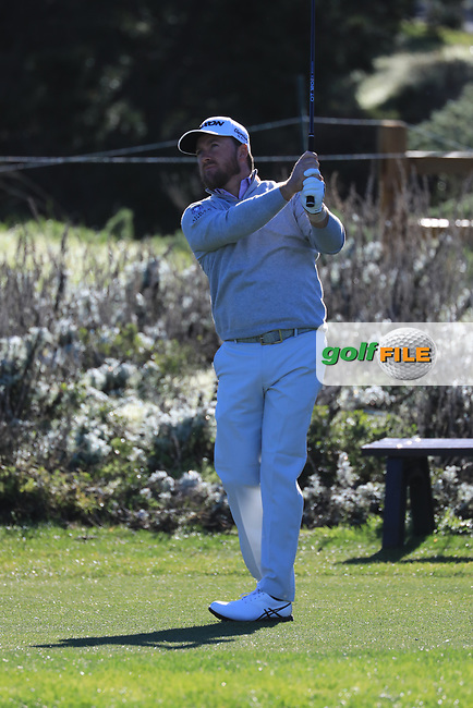Graeme McDowell (NIR) in action at Spyglass Hill Golf Course during the third round of the AT&T Pro-Am, Pebble Beach Golf Links, Monterey, USA. 09/02/2019<br /> Picture: Golffile | Phil Inglis<br /> <br /> <br /> All photo usage must carry mandatory copyright credit (© Golffile | Phil Inglis)