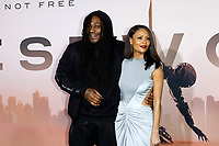 "LOS ANGELES - MAR 5:  Marshawn Lynch, Thandie Newton at the ""Westworld"" Season 3 Premiere at the TCL Chinese Theater IMAX on March 5, 2020 in Los Angeles, CA"