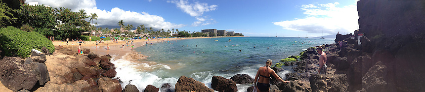 Black Rock Beach (Panorama), Kaanapali Beach, Maui, Hawaii, US