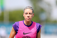 Cary, North Carolina  - Saturday April 29, 2017: Alanna Kennedy prior to regular season National Women's Soccer League (NWSL) match between the North Carolina Courage and the Orlando Pride at Sahlen's Stadium at WakeMed Soccer Park.