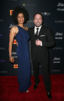 LOS ANGELES, CA -APRIL 9: Peter G. Adams, Wife, at Los Angeles Premiere Be Natural: The Untold Story of Alice Guy- Blach&eacute; at Harmony Gold Theater in Los Angeles, California on April 9, 2019.<br /> CAP/MPIFS<br /> &copy;MPIFS/Capital Pictures