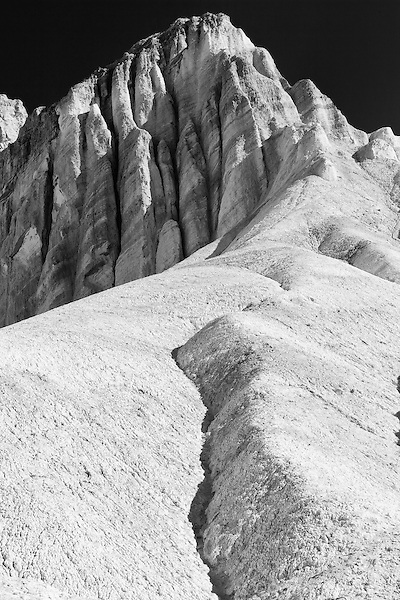 Black and white in Golden Canyon, Death Valley California