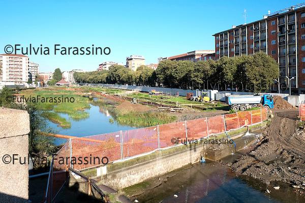 Milano, 5 novembre 2013 Lavori in corso sulla Darsena. <br /> Work in progress
