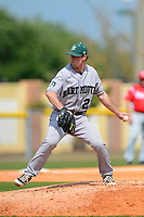 Dartmouth Big Green pitcher Michael Johnson (21) during a game against the Bradley Braves at Henley Field on March 23, 2013 in Lakeland, Florida.  Dartmouth defeated Bradley 7-4.  (Mike Janes/Four Seam Images)