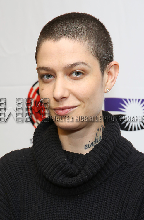 """Asia Kate Dillon attends the cast photo call for """"Laramie: A Legacy""""  on September 24, 2018 at The Gerald W. Lynch Theater at John Jay College in New York City."""