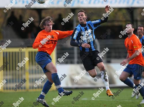 2009-11-08 / Voetbal / seizoen 2009-2010 / Rupel-Boom - Ternat / Jarich Dewoyer (r, Rupel-Boom) met Damiani..foto: mpics