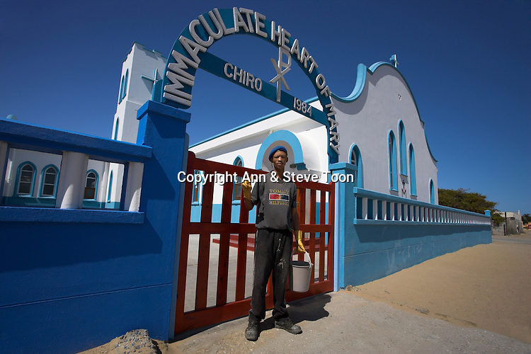 Domestic worker, Port Nolloth church, Northern Cape, South Africa