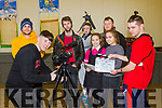 Fís na hÓige students recording short film at St Michael's Listowel on Friday morning. L-r Billy Stack, JJ Sullivan (focus puller & assistant Camera), Patrick Ryan (writing, directing and teacher), Conor Hogan, Katie and Ellen Keane, Mark O'Rourke (cinematographer ), and Mark Faley.