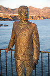 King Alfonso seventh ( ruled 1874 to 1885) statue by F. Martin 2003, Nerja, Malaga province, Spain commemorating his visit in 1885