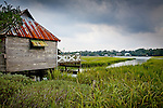Pawleys Island fishing shack, Carolina coast, SC, USA