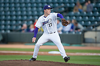 Winston-Salem Dash starting pitcher Jordan Stephens (27) in action against the Salem Red Sox at BB&T Ballpark on April 15, 2016 in Winston-Salem, North Carolina.  The Red Sox defeated the Dash 3-2.  (Brian Westerholt/Four Seam Images)