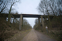 Paris-Roubaix 2013 RECON..old railroad bridge over Trouée d'Arenberg.