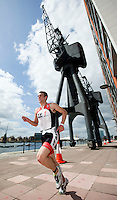 02 AUG 2009 - LONDON, GBR - Aaron Harris - London Triathlon (PHOTO (C) NIGEL FARROW)