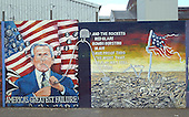 Belfast, Northern Ireland - August 14, 2005 -- Wall murals along Falls Road in Belfast, Northern Ireland on August 14, 2005.  Falls Road is in one of the Catholic neighborhoods in Belfast.  The murals reflect their political positions on many national and international issues. This mural depicts the painter's opposition to United States President George W. Bush..Credit: Ron Sachs / CNP