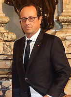 Montreal,  CANADA - November 4 - Montreal mayor Denis Coderre meet French President Francois Hollande  <br /> at  Montreal's City Halll, November4, 2014.<br /> <br /> Last time a French President visited Montreal' s City Hall was on July 24, 1967 when Charles de Gaulle said ''Vive le Quebec Libre''.<br /> <br /> <br /> Photo :  Agence Quebec Presse - Pierre Roussel
