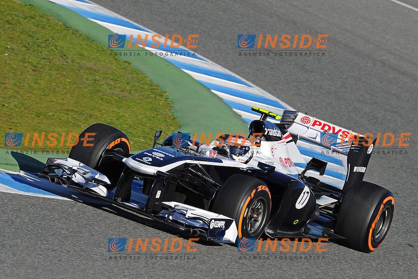 formula 1: Test  Jerez 07/02/2013.VALTTERI BOTTAS (FIN)- WILLIAMS RENAULT FW35 ACTION ...Foto Insidefoto / ITALY ONLY
