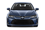 Car photography straight front view of a 2019 Toyota Corolla  Premium 4 Door Sedan