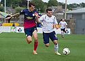 Forfar's Dale Hilson tries to get away from Morton's Stefan Milojevic.