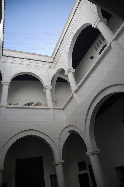 Traditional Andalusian patio in a medina house, Tetouan, Morocco
