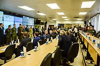 RIO DE JANEIRO, RJ, 30.08.2018 - INTERVENCAO-RJ - Presidente Michel Temer durante a reunião de acompanhamento dos resultados da intervenção federal no Rio de Janeiro, que aconteceu Comando Militar do Leste (CML), Centro do Rio de Janeiro nesta quinta-feira, 30. (Foto: Vanessa Ataliba/Brazil Photo Press)