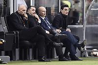 Cristian Abbiati, Massimiliano Mirabelli, Marco Fassone, Vincenzo Montella<br /> Milano 28-09-2017 Stadio Giuseppe Meazza Football Europa League 2017/2018 Group D Milan - Rijeka Foto Image/Insidefoto