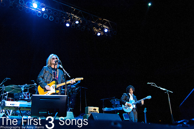 John Oates and Daryl Hall of Hall & Oates performs during the The Beale Street Music Festival in Memphis, Tennessee.