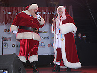 02 December 2017 - Las Vegas, NV - Santa Claus, Mrs Claus. 2017 Las Vegas Great Santa Run Kickoff with Grand Marshals Wayne Newton and Holly Madison at The Fremont Street Experience. Photo Credit: MJT/AdMedia