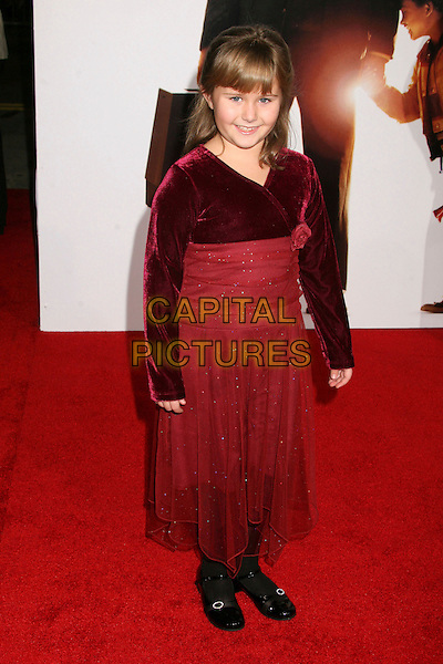 "ADA-NICOLE SANGER.At the World Premiere of ""Pursuit of Happyness"" .at Mann's Village Theatre,Los Angeles, California, .USA, 07 December 2006..full length red dress.CAP/ADM/BP.©Byron Purvis/AdMedia/Capital Pictures"
