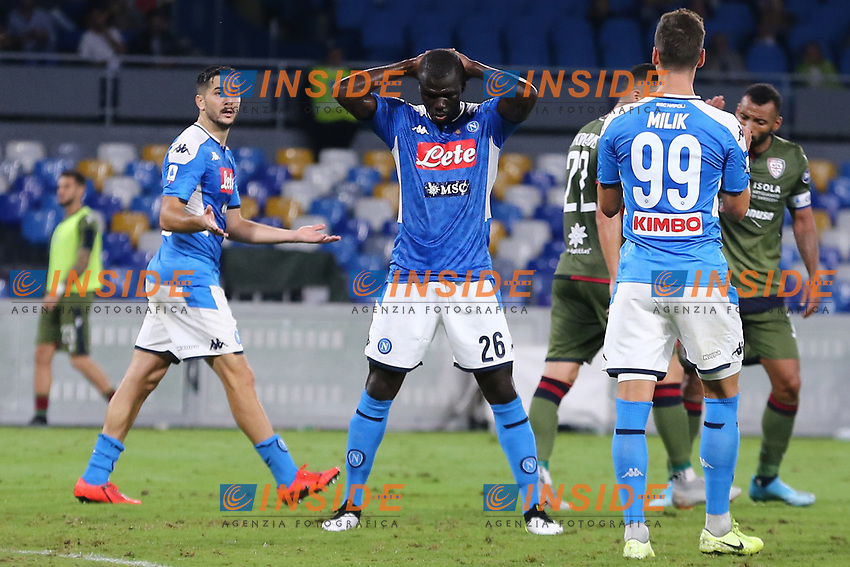 Kalidou Koulibaly of Napoli dejection<br /> Napoli 25-9-2019 Stadio San Paolo <br /> Football Serie A 2019/2020 <br /> SSC Napoli - Cagliari SC<br /> Photo Cesare Purini / Insidefoto