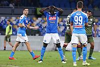 Kalidou Koulibaly of Napoli dejection<br /> Napoli 25-9-2019 Stadio San Paolo <br /> Football Serie A 2019/2020 <br /> SSC Napoli - Cagliari SC<br /> Photo Cesare Purini / Insidefoto