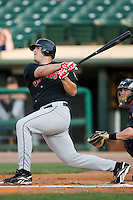 Indianapolis first baseman Brad Eldred (23) follows through on his swing Louisville at Louisville Bats Field in Louisville, KY, Wednesday, August 8, 2007.
