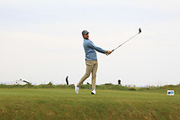 Redmond Lyons (Olympic) on the 1st tee during Round 1of the Flogas Irish Amateur Open Championship 2019 at the Co.Sligo Golf Club, Rosses Point, Sligo, Ireland. 16/05/19<br /> <br /> Picture: Thos Caffrey / Golffile<br /> <br /> All photos usage must carry mandatory copyright credit (© Golffile | Thos Caffrey)