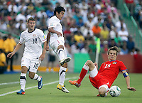 .Action photo of Jan Sterba  (R) of the Czech Republic, during game of the FIFA Under 17 World Cup game, held at  Torreon.