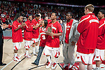 March 3, 2010: Wisconsin Badgers guard Trevon Hughes (3) walks out with his mother on senior day prior to a Big Ten Conference NCAA basketball game against the Iowa Hawkeyes at the Kohl Center on March 3, 2010 in Madison, Wisconsin. The Badgers won 67-40. (Photo by David Stluka)