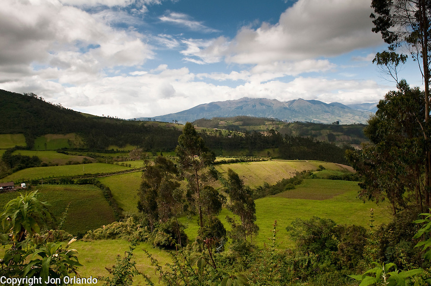 A view near Otavalo, Ecuador.