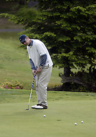 June 23, 2008:  Hollywood comedian Ryan Stiles took in some morning putting practice before playing in the Detlef Schrempf celebrity golf classic held at McCormick Woods golf club in Port Orchard, WA.