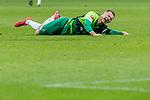 10.02.2019, Weser Stadion, Bremen, GER, 1.FBL, Werder Bremen vs FC Augsburg, <br /> <br /> DFL REGULATIONS PROHIBIT ANY USE OF PHOTOGRAPHS AS IMAGE SEQUENCES AND/OR QUASI-VIDEO.<br /> <br />  im Bild<br /> <br /> <br /> Johannes Eggestein (Werder Bremen #24)<br /> Verletzung / verletzt / Schmerzen<br /> foul<br /> <br /> Foto &copy; nordphoto / Kokenge