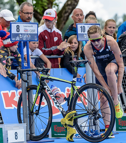 16th June 2017, Kitzbuehel, Austria; European Triathlon Championships;   Jessica Learmonth of Great Britain during the womens Elite competition