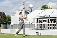 Paul Casey (ENG) watches his tee shot on 17 during 2nd round of the World Golf Championships - Bridgestone Invitational, at the Firestone Country Club, Akron, Ohio. 8/3/2018.<br />